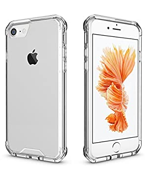 Free Drop Protection Case for iPhone 7, Clear Cushion [Scratch Resistant] Hybrid Shockproof Protective Case (4.7 inch Clear)
