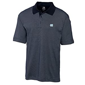 NCAA Mens North Carolina Tar Heels Navy Blue Drytec Resolute Polo Tee by Cutter & Buck