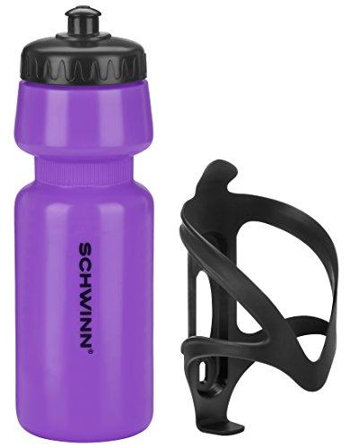 Schwinn Water Bottle and Cage, Purple