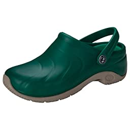 Anywear ZONE Women\'s Injected Clog w/Backstrap Hunter Green 10 M US