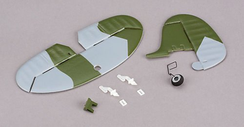 Complete Tail w/Accy: Ultra-Micro Spitfire Mk IX - 1