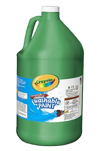 Washable Paint Gallon Green -- Case of 2
