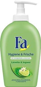 Fa Hygiene & Frische Flüssigseife, Limette & Ingwer, 6er Pack (6 x 250 ml)