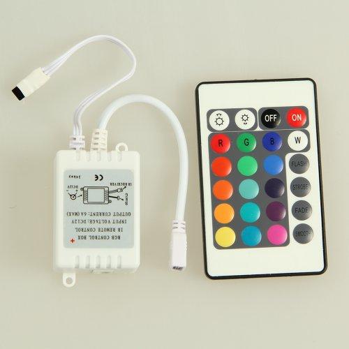 Milliongadgets(Tm) Rgb Control Box Ir Remote Control 24Key For Led Light Strip