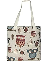 ACASA Designed Jacquard Canvas Multi Purpose Tote/Shoulder Bags For Women/Girls