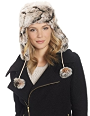 M&S Collection Faux Fur Trapper Hat with Wool