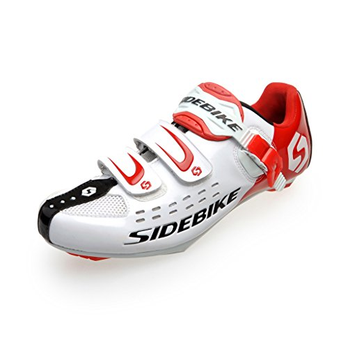 Skyrocket, Scarpe da ciclismo uomo, uomo, White Red, EU 46 ( UK 12 )