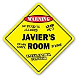 JAVIER'S ROOM Sticker Sign kids bedroom decor door children's name boy girl gift - Sticker Graphic Personalized Custom Sticker Graphic