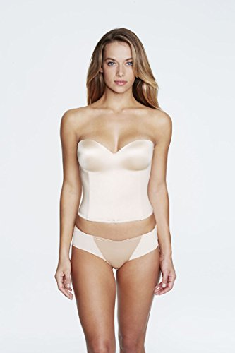 Dominique Longline Smooth Strapless Bra (8541) 32D/Nude