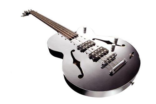 Normandy Guitars Atb-Ch Chrome Archtop Bass Guitar