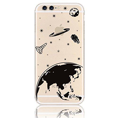 iPhone 7 Plus (5.5 pollici) 2016 Case Cover, Sunroyal® [Antigraffio] [Anti-Scratch] TPU Gel Silicone Creative logo Custodia Trasparente Cristallo Chiaro Bumper Soft Morbido Ultra Slim Skin Protezione, Aeroplano