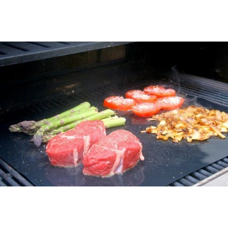 Non-Stick Barbeque Grill Sheets - Set of Two | Eliminates the Need to Clean Up Burnt On and Charred Remains From Your Last Cookout (Le Cruset Roasting Pan compare prices)
