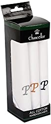 Chancellor Men's Handkerchief, Pack of 3 Pc (White)