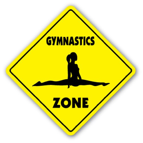 GYMNASTICS ZONE -Sign- novelty gift sport gym