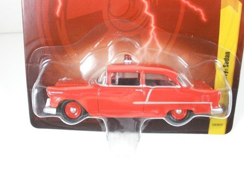 JL 25 1955 Chevy Sedan Red Diecast 1:64 Scale Car - 1