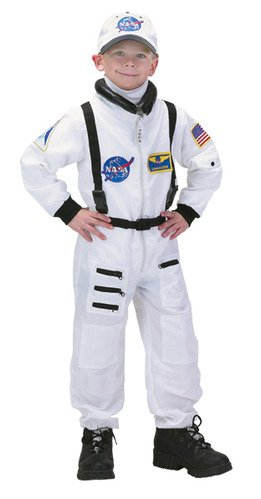 Jr. Astronaut Suit w/Embroidered Cap, size 6/8 (white)