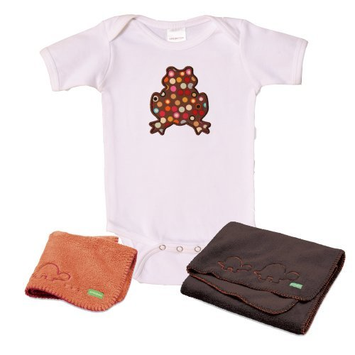 Ambajam Baby Bundle Gift Set: 6-12 Month Onesie, Cuddle-up Blanket, Mini Cuddle-up Blanket - 1
