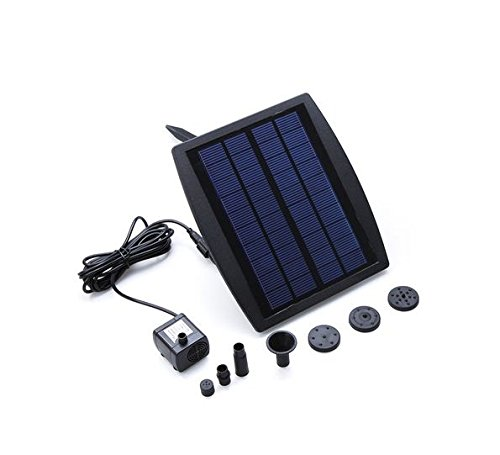 Solar power water pump decorative fountain for garden pond for Decorative pond filters