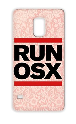 Run Os X Funny Tees Run D Geek Nerdy Shirts Osx Nerd Fashion Band Shirts Nerd Geeks Systems Geek Os X Chic Programming Cool Tshirts Computer 80S Tshirts Mac Apple Parody Trends Lion Red Protective Hard Case For Sumsang Galaxy S5