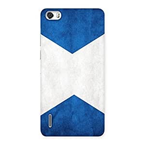 Gorgeous X Fin Blue Back Case Cover for Honor 6