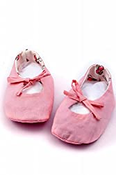 MI DULCE AN'YA pink handmade organic booties/shoes for infants