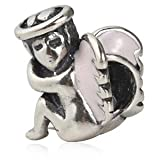 Guardian Angel Charm Authentic 925 Sterling Silver Bead Fits Pandora Chamilia Biagi Troll Charms Europen Style Bracelets