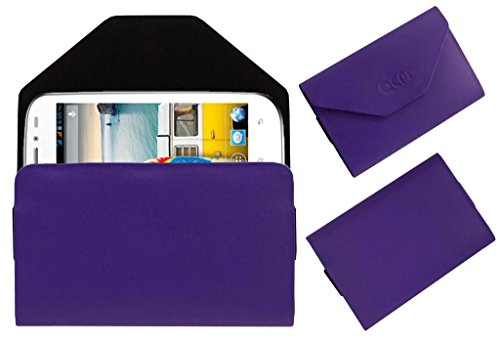 Acm Premium Pouch Case For Micromax Bolt A71 Flip Flap Cover Holder Purple  available at amazon for Rs.179