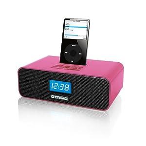 docking station ottavo ot1040 p speaker docking station with alarm clock fm radio for all. Black Bedroom Furniture Sets. Home Design Ideas