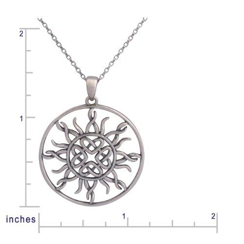Imagen de Sterling Silver Celtic Knot Amor dom colgante Circle Filigrana, 18