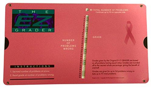 "Grading Calculator - E-Z Grader Teacher's Aid Scoring Chart - Breast Cancer Edition (Pink) - 8-1/2"" x 4-3/4"""
