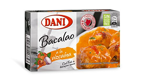 Cod Fish In Biscayan Sauce Canned 4 oz 3 Tin Pack Bacalao Vizcaina Gluten Free (Canned Cod Fish compare prices)