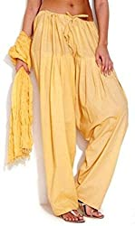 I wonder Yellow Salwar and Duppata