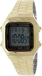 Casio Retro Unisex Armbanduhr Collection gold A178WGA-1ADS