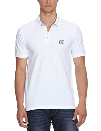 SELECTED HOMME Herren T-Shirt Aro ss embroidery polo s NOOS, Gr. 3X-Large, Weiß