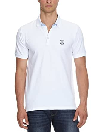 Selected - Polo Homme - manches courtes - Blanc (White) - FR: Small (Taille fabricant: Small)