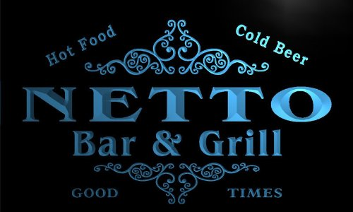 u32307-b-netto-family-name-bar-grill-home-brew-beer-neon-sign-enseigne-lumineuse