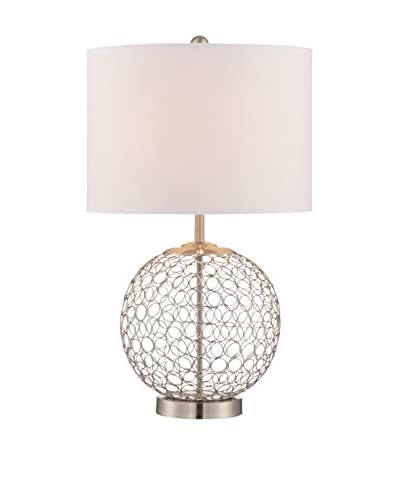 Lite Source Mabon Table Lamp, Polished Steel