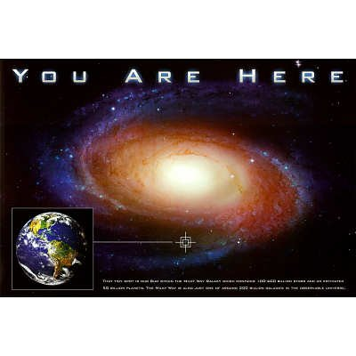 (24x36) Classic You Are Here Galaxy Space Science Poster Print