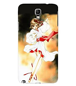 ColourCraft Lovely Girl Design Back Case Cover for SAMSUNG GALAXY NOTE 3 NEO N7505