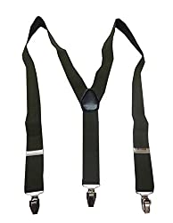 Navaksha Smoky Green Plain Adjustable Suspender