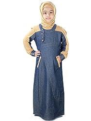 MyBatua Afifa Blue & Beige Baby Burqa Abaya AY-413-K (M)