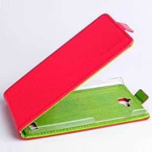 Generic Hit Color Flip PU Leather Protective Case Cover For Huawei Honor 3C