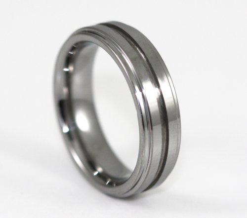 6MM one middle line Tungsten Carbide Wedding Band Ring Size 13
