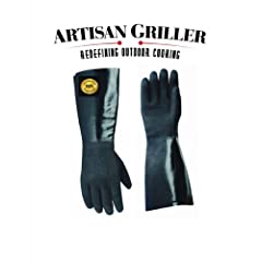 14 Insulated BBQ Gloves *July 4th Sale $25.98 **Neoprene TEXTURED for Use With Your... by Artisan Griller Pit Glove