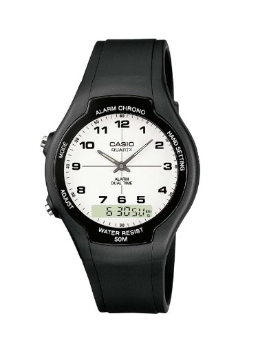 CASIO AW90H7BVEF - Reloj unisex de cuarzo, correa de resina color negro