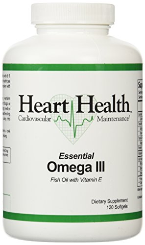 Heart HealthTM Essential Omega III Fish Oil with Vitamin E Single Bottle - 120 softgels,(60 Servings)