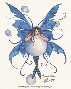 Amazon.com: Amy Brown Artist Sticker - Fairies/Fantasy - Bubble Rider