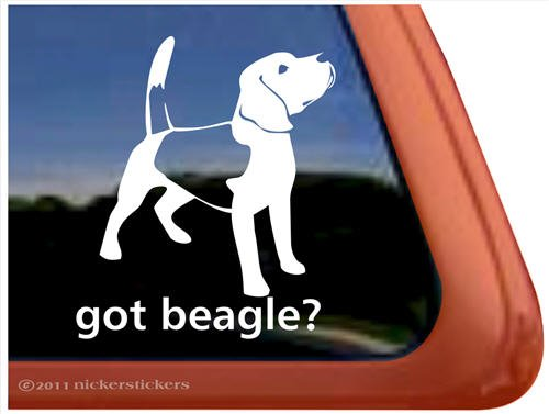 Got Beagle? Dog Vinyl Window Auto Decal Sticker