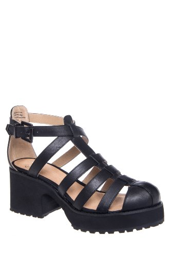 Shellys London Kaplow Caged High Heel Platform Sandal