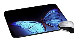 meSleep PD-03-049 Blue Butterfly Mouse Pad (Multicolor)
